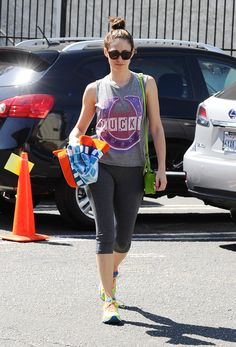 Emmy Rossum - Heading to a yoga class in Los Angeles - 06/22/15