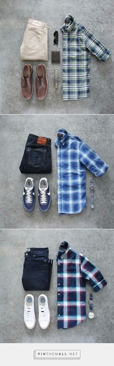 Awesome check shirt outfits for guys.