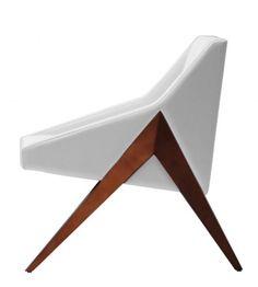 naturally modern chair by michael wolk design