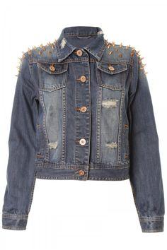 Denim Studded Jacket