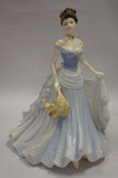 Coalport Lady Figurine Ladies of Fashion Victoria Made in England!!! #Figurines