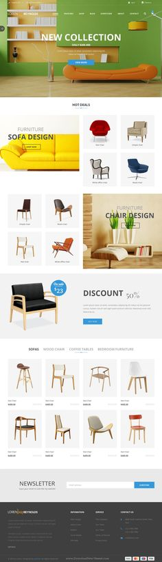 JV Loren is minimal and unique design Responsive Virtuemart Joomla Template with 3 homepage style for multipurpose eCommerce – Furniture Decoration Design Shop, Ux Design, Layout Design, Email Design, Web Layout, Sofa Design, Design Trends, Website Design, Website Layout