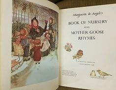 Marguerite De Angeli Book Of Nursery and Mother Goose Rhymes 1954 1st Children's