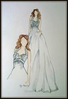 Amazing idea -  illustration of your dress by @Megan Alexander #wedding #dress