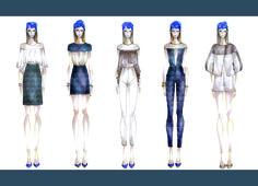 Mariana Cino Capsule collection: Near East ss16_ #fashionillustration #sketch #fashion #blue #summer #portfolio #MarianaCino