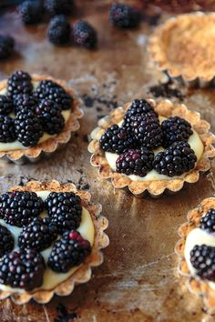 Brown Butter Tart with Blackberries