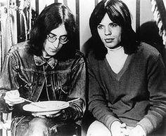 John Lennon with Mick Jagger