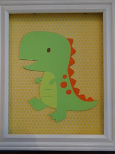 Dinosaur Animal Print - With Frame