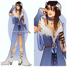 hannah_alexander_artwork: Rinoa may very well be my fave design. I love blue and feathers. I feel like this is her sorceress oufit _ #rinoa #rinoaheartilly #finalfantasy8 #viii #finalfantasy #cosplay #costume #dress #design #fashiondesign #fanart #art #illustration #videogame