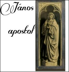 Genti oltár: János apostol szobor-képe a bezárt szárnyakon