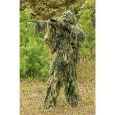 Men's Ghillie Suit, 5 Piece Set - Tactical Clothing at Sportsman's Guide Sniper Suit, Sniper Gear, Airsoft Sniper, Ghillie Suit, Military Surplus, Military Style, Tactical Clothing, Woodland Camo, Special Forces