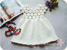Sweet Little Girl Crocheted Dresses. Several on this page, with patterns…