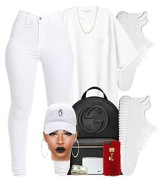 """Looking like milk"" by ezzy-e ❤ liked on Polyvore featuring Gucci, Henri Bendel, River Island and NIKE"