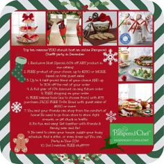 TOP 10 Reasons YOU should host an online Pampered Chef Party in December  want to host or order: www.pamperedchef.biz/nikkilane57