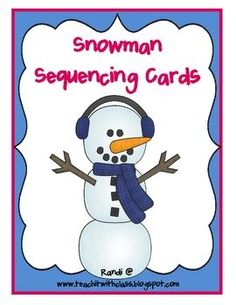 I created this adorable little center activity for a friend who teaches Kindergarten.This activity will build a snowman 1 card at a time.  Each...