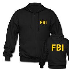 FBI Zipper Hoodies Government Agent Secret Service Men Tops Police CIA Cops Letter Print Hoodies Sweatshirt Custom Winter Coat