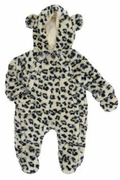 Fuzzy Leopard Snowsuit by Rock a Bye Baby