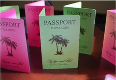 Passport Style Save the Date cards for Destination weddings