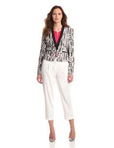 BCBGMAXAZRIA Women's Guy Woven Sportswear Jacket, Black/Comb, Small BCBGMAXAZRIA. $248.00
