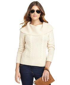 Cable Cowl Neck Sweater | Brooks Brothers...why I like fall
