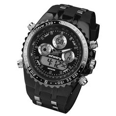 INFANTRY Mens Watches Pilot Reloj Digital Sports Watches Fashion Luxury Brand Watches Chronograph Alarm 30M Water Resistant