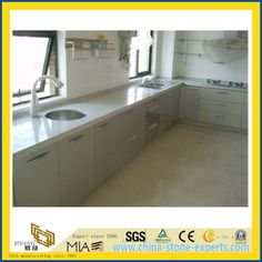China Engineering White Quartz Colors Countertops on Sale for Bathroom and Kitchens Manufacturers, Suppliers - Wholesale Price - Yeyang Stone Factory Bathroom Countertops, Laminate Countertops, Marble Countertops, Marble Quartz, White Quartz, Kitchen Vanity, Kitchen Cabinets, Quartz Countertops Colors, China