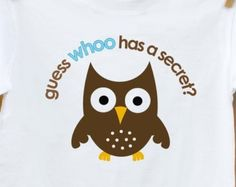 Big brother shirt- owl secret big brother to be t shirt - pregnancy announcement