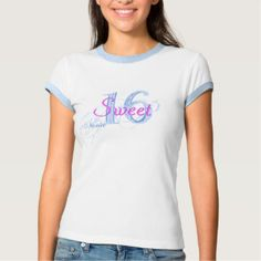 Sweet 16 Birthday T-Shirt Add NAME Back & Front #sweet16 #sweet16themes #sweet16gifts #mysweet16 #sweet16T