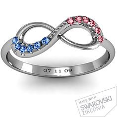 Anniversary Idea  Infinity Accent Ring | Jewlr