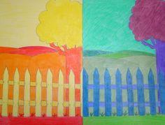 Experiment om kinderen koude en warme kleuren aan te leren mijn verzameling projectjes - Warme en koude kleuren in verf ...