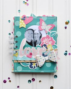 We R Memory Keepers: FUSEables Card Kit Mini Album by Aly Dosdall #video #tutorial