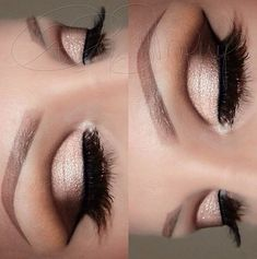 ♡♥♡ this is really easy to follow as with deep set we have a lot of lid space. use brown so that in the crease so the eyes doesn't look too sunken in, as usual; loads of lashes xo Sheenz