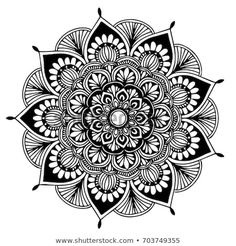 coloring pages - Mandalas Coloring Book Decorative Round Ornaments Stock Vector (Royalty Free) 764820337 Mandala Doodle, Mandala Art Lesson, Mandala Artwork, Mandala Dots, Mandala Drawing, Mandala Pattern, Book Design, Design Art, Design Elements