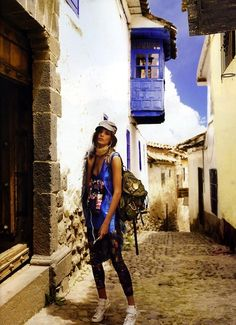 Daria Werbowy  in Cuzco, Peru by Mario Testino for Vogue UK