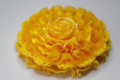 Check out our brooches selection for the very best in unique or custom, handmade pieces from our shops. Crochet Roses, Crochet Lace, Lynn Anderson, Brooch, Yellow, Etsy, Food, Essen, Brooches
