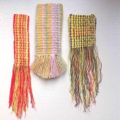 Had so much fun weaving these mini hangings Liz Padgham-major