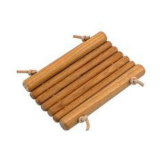Redecker Dřevěná mýdlenka s koženým provázkem 1 ks