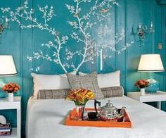 love the tree painting on wall