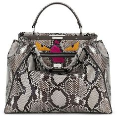 Handbags Fendi Arel Accessories Black Satchel Purse Snakeskin Handbag Snake Skin And Satchels