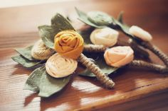 Great idea for corsages--Vintage Wedding
