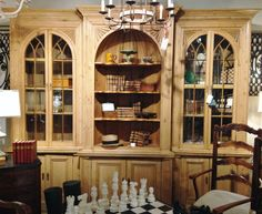 Pine Hutch and Bookcase at Palladio Antiques
