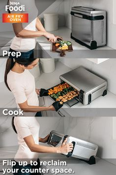 """""""Try the Ninja® Foodi™ Digital Air Fry Oven risk-free for 60 days. Get yours today. Cool Kitchen Gadgets, Cool Kitchens, Kitchen Decor, Kitchen Design, Cooking Gadgets, Kitchen Accessories, Interior Design Living Room, Food Processor Recipes, Sweet Home"""