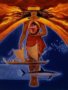 Pele Hawaiian Mythology, Hawaiian Goddess, Hawaiian Legends, Hawaiian Art, Hawaii Hula, Aloha Hawaii, Polynesian Art, Polynesian Culture, Surf Art