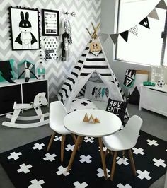 Monochrome Kids Playroom Inspiration Monochrome Kids Playroom Inspiration The post Monochrome Kids Playroom Inspiration appeared first on Pink Unicorn. Toddler Rooms, Baby Boy Rooms, Baby Bedroom, Nursery Room, Nursery Decor, Bedroom Black, Kids Rooms, Bedroom Decor, Room Baby