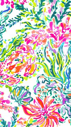 Lilly Pulitzer ★ Find more watercolor #iPhone + #Android #Wallpapers at…