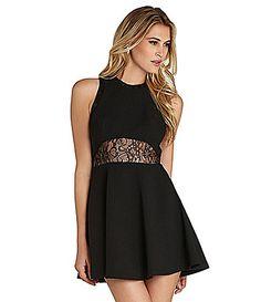 BCBGeneration Lace Inset Dress #Dillards