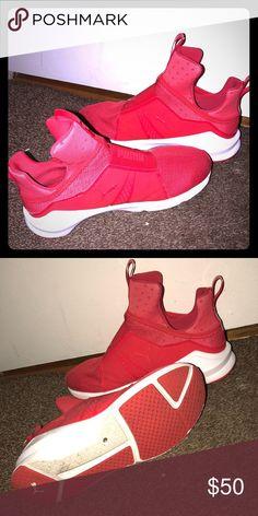 b6370c13ec78 Red Fierce Puma Sneakers
