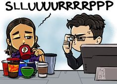 "Lord Mesa on Twitter: """"Slurp"" Gotta ❤️ Cisco & Harry's relationship! @Tha_Los @CavanaghTom @CW_TheFlash @FLASHProdOffice @FLASHtvwriters https://t.co/LBmgJK4i5D"""