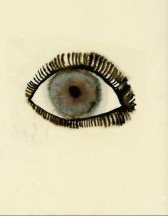 pale eyes monoprint 14¨x 21¨