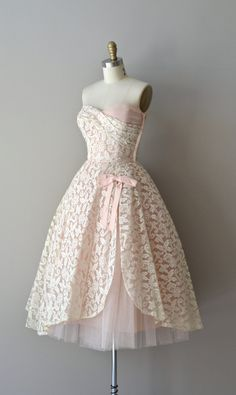1950's Lace Overlay Dress